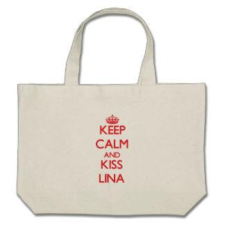 Mantenha calmo e beijo Lina Bolsas