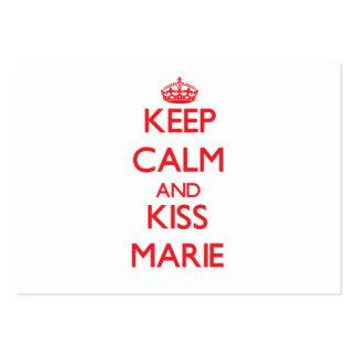 Mantenha calmo e beijo Marie Modelo Cartao De Visita
