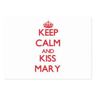 Mantenha calmo e beijo Mary Modelo Cartões De Visita
