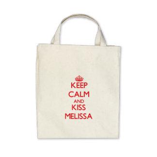 Mantenha calmo e beijo Melissa Bolsa Para Compras