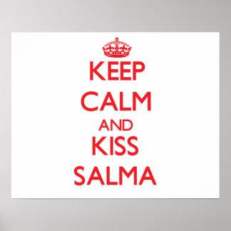 Mantenha calmo e beijo Salma Pôsteres