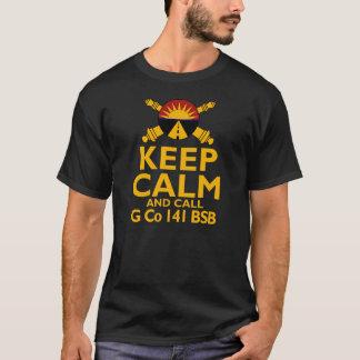 Mantenha Calmo e Chamadas G Empresa Tshirts