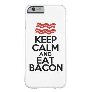 mantenha calmo e coma a caixa engraçada do bacon capa barely there para iPhone 6