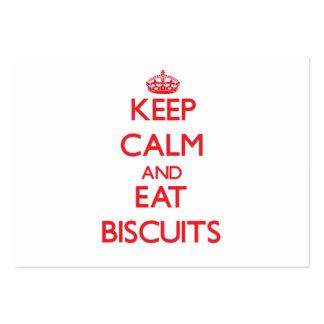 Mantenha calmo e coma biscoitos modelo cartão de visita