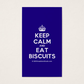 Mantenha calmo e coma biscoitos cartão de visitas