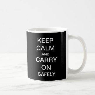 Mantenha calmo e continue a caneca da saúde e da