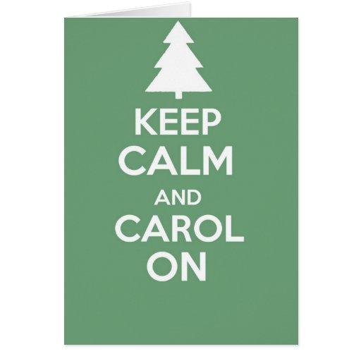Mantenha calmo e continue o cartão de cumprimentos