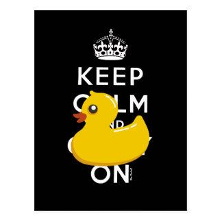 Mantenha calmo e continue o cartão Ducky de