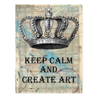 Mantenha calmo e criar o design do abstrato do cartão postal