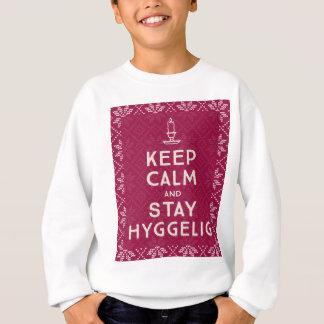 Mantenha calmo e estada Hyggelig Agasalho