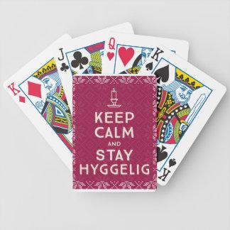 Mantenha calmo e estada Hyggelig Baralhos Para Pôquer