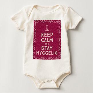 Mantenha calmo e estada Hyggelig Body Para Bebê