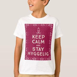 Mantenha calmo e estada Hyggelig Camiseta