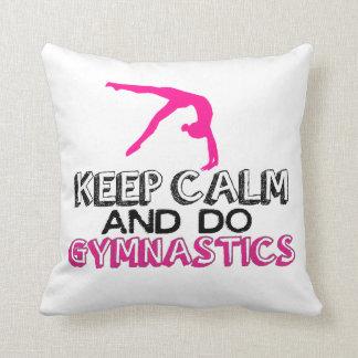 Mantenha calmo e faça a ginástica almofada