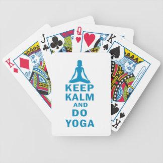 mantenha calmo e faça a ioga jogo de carta