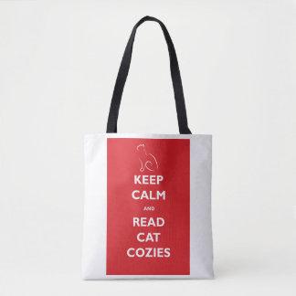 Mantenha calmo e leia o bolsa de Cozies do gato