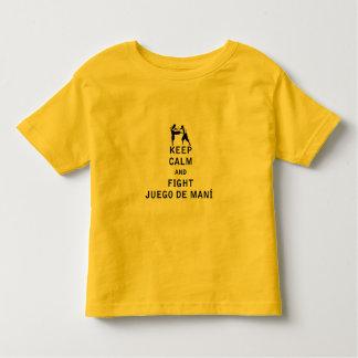 Mantenha calmo e luta Juego de Mani T-shirts