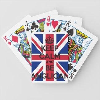 Mantenha calmo e seja anglicano jogos de baralhos