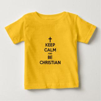 Mantenha calmo e seja cristão camiseta