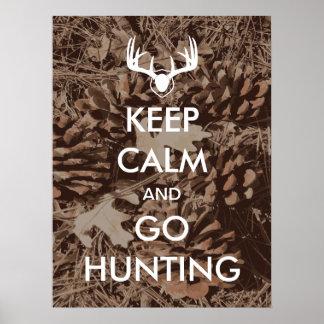 Mantenha calmo e vá caçar o poster de Camo