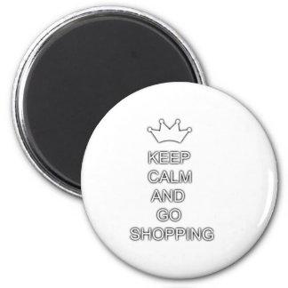 Mantenha calmo e vá comprar imãs