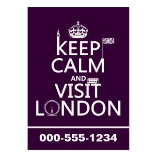 Mantenha calmo e visita Londres (alguma cor) Modelo Cartão De Visita