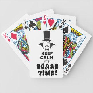 Mantenha calmo ele é tempo do susto cartas de baralho