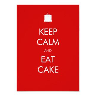 Mantenha calmo para comer o convite do aniversário