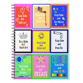 Mantenha calmo - para fazer o caderno v2 da arte