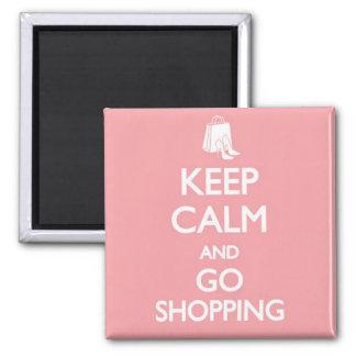 Mantenha calmo & vá comprar ímã quadrado