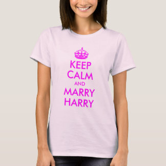 Mantenha camisa calma e do casado de Harry