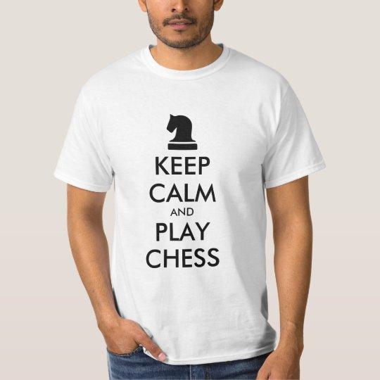 Mantenha camisas da xadrez t da calma e do jogo