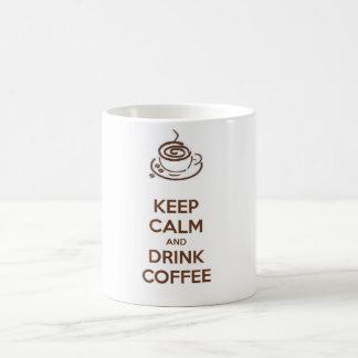 Mantenha caneca calma e da bebida de café!