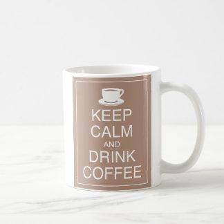 Mantenha caneca calma e da bebida de café