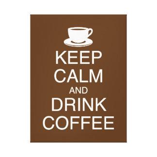 Mantenha canvas calmas e da bebida do café da pare