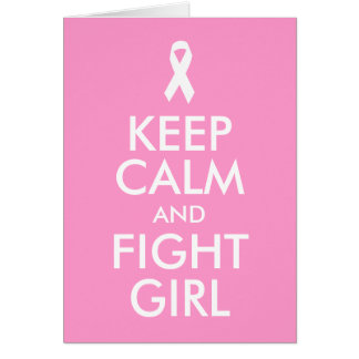 Mantenha cartão calmo e da luta da menina