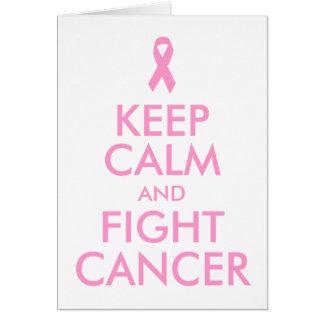 Mantenha cartão calmo e da luta do cancer