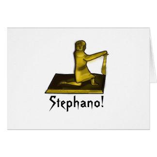 Mantenha cartão calmo e do carregar de Stephano