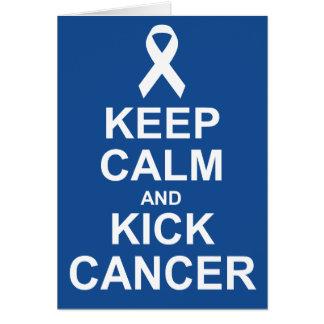 Mantenha cartão calmo e do pontapé do cancer
