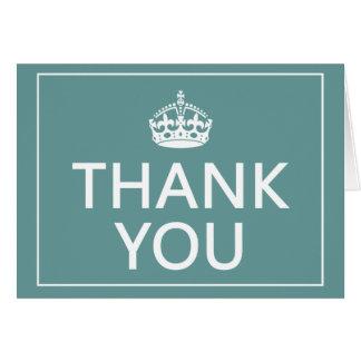 Mantenha cartões de agradecimentos calmos do