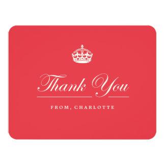 Mantenha cartões de agradecimentos vermelhos convite 10.79 x 13.97cm