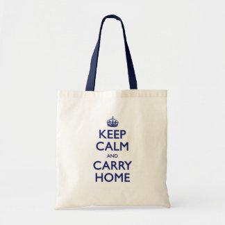 Mantenha casa calma e do carregar sacola tote budget