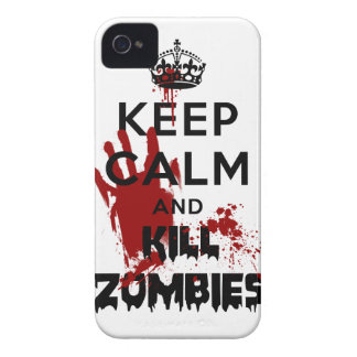 Mantenha caso engraçado calmo e do matar dos capa para iPhone 4 Case-Mate