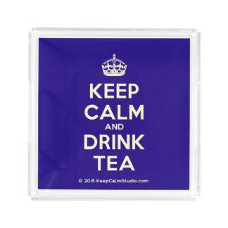 Mantenha chá calmo e da bebida bandeja de acrílico