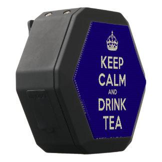 Mantenha chá calmo e da bebida caixa de som preta com bluetooth