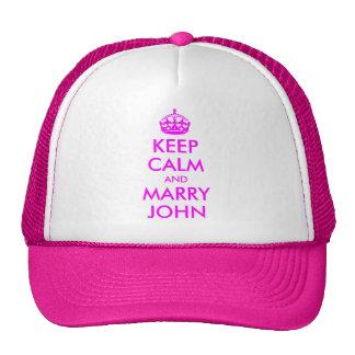 Mantenha chapéu calmo e do casado de John Boné