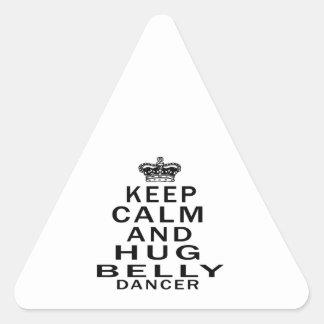 Mantenha dança do ventre calma e do abraço adesivo triangular