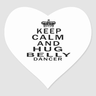 Mantenha dança do ventre calma e do abraço adesivo em forma de coração