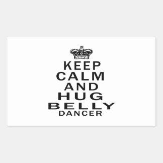 Mantenha dança do ventre calma e do abraço adesivos em forma retangular
