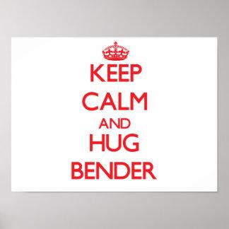 Mantenha dobrador calmo e do abraço poster